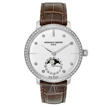 Frederique Constant 43mm Automatic Manufacture Slimline Moonphase Silver
