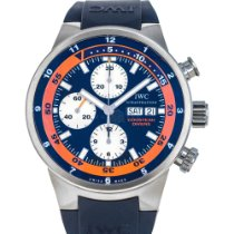 IWC Aquatimer Chronograph pre-owned 44mm Blue Chronograph Date Weekday Rubber