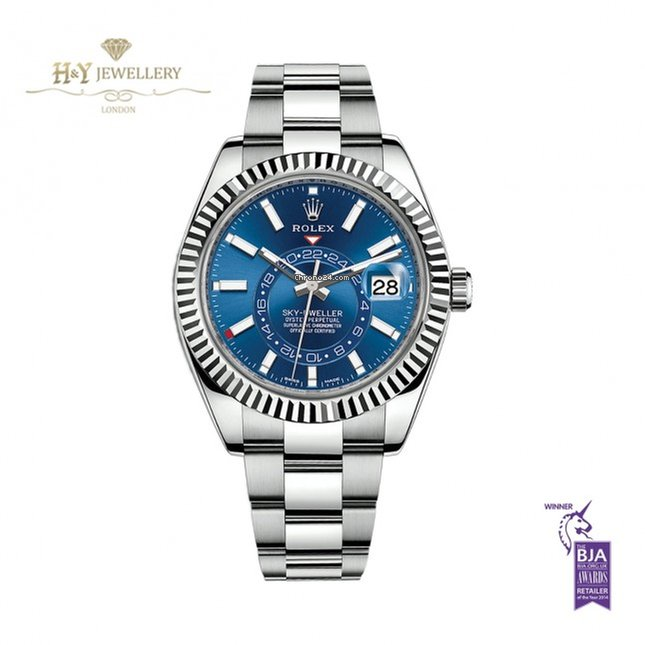 Rolex Sky,Dweller Steel Blue Dial 326934