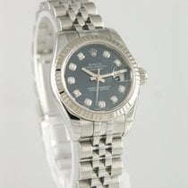 Rolex Lady-Datejust Staal 26mm Blauw