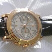 Patek Philippe Chronograph Oro rosa 42mm Plata Sin cifras