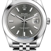 Rolex Datejust 41mm Stainless Steel 126300 Dark Rhodium Index...