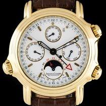 Jaeger-LeCoultre 18k Yellow Gold Perpetual Calendar Alarm...