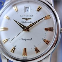 Longines Conquest Heritage Automatic 35mm Steel on Leather Silver