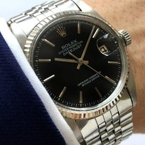 Rolex Serviced Datejust Automatic Automatik black dial Steel...