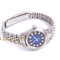 Rolex Ladies Oyster Perpetual Watch - Blue Vignette Diamond...