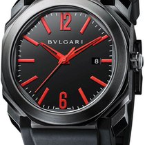 Bulgari Octo Steel 41mm Black Arabic numerals