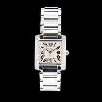 Cartier Tank Française neu 2005 Automatik Uhr mit Original-Box und Original-Papieren 2366