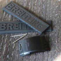 Breitling 22mm black new rubber kautschuk strap band and black...