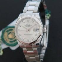 Rolex Datejust Silver Diamonds NEW 178274