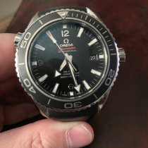 Omega Seamaster Planet Ocean pre-owned Black Date Rubber