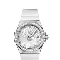 Omega White gold Automatic White 35mm new Constellation Ladies