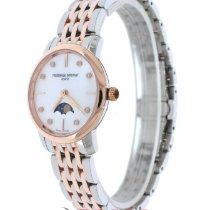 Frederique Constant Slimline Moonphase FC-206MPWD1S2B Madre perla, oro rosa, diamanti, 30mm 2020 new