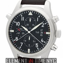 IWC Pilot Collection Pilot Double Chronograph 46mm Stainless...