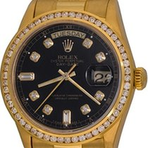 Rolex Day-Date 36 Or jaune 35mm Noir Sans chiffres