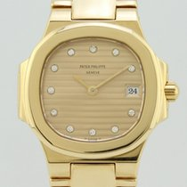 Patek Philippe Nautilus  Champagne Stick Dial and Diamonds 4