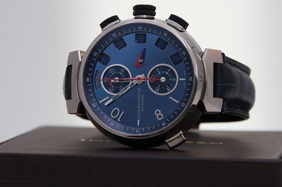 louis vuitton tambour spin time regatta chronograph f r kaufen von einem seller auf. Black Bedroom Furniture Sets. Home Design Ideas