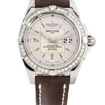 Breitling - Galactic 41 Diamond Bezel Silver Dial - A49350LA/G...