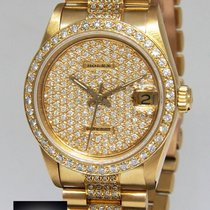 Rolex Datejust President 18k Yellow Gold Diamond 31mm Midsize...