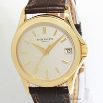 Patek Philippe Mens Calatrava 5107 18k Yellow Gold Automatic...