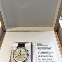 IWC Portuguese Chronograph occasion 41mm Blanc Chronographe Cuir