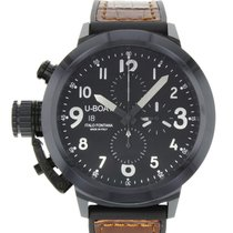 U-Boat Flightdeck 50 Black Dial Ceramic Mens Watch - Unworn B/P