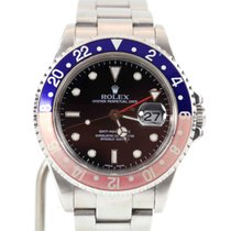 Rolex GMT-Master II 16710 Pepsi D-Series No Holes Box & Papers