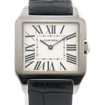 Cartier Santos Dumont pre-owned 30mm Silver Leather