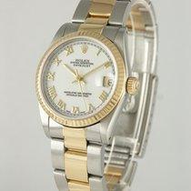 Rolex Lady-Datejust Gold/Stahl 30mm Weiß Römisch Deutschland, Heilbronn