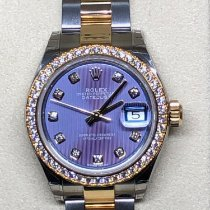 Rolex Lady-Datejust Steel 28mm Purple No numerals