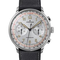 Junghans Meister Chronoscope pre-owned Silver Chronograph Leather
