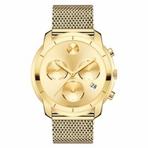 Movado Bold Staal 44mm Goud