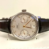 IWC Portuguese Automatic Acier 42.3mm Argent Arabes France, Paris
