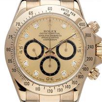 Rolex Daytona Žluté zlato 40mm Šampaňská barva Arabské