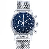 Breitling Transocean pre-owned 38mm Blue Chronograph Date Steel