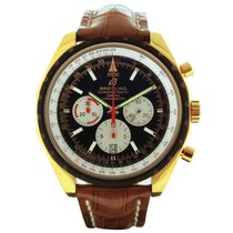 Breitling Chrono-Matic 49 Red gold 49mm Black No numerals