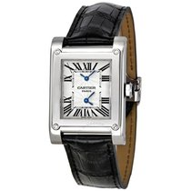 Cartier Tank A Vis Dual Time Zone 18K Solid White Gold