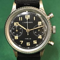 Auricoste Type 20 Black Dial Military Chronograph with NATO Strap