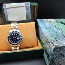 勞力士 SUBMARINER 16613 2-Tone Blue (T25) Dial with Box and Paper