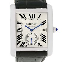 Cartier Tank Mc Silver Dial Automatic Mens Watch W5330003