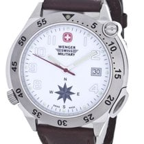 Victorinox Swiss Army Wenger Military White Dial Quartz Mens...
