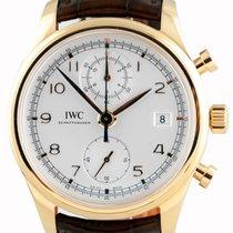 IWC Portuguese Chronograph Classic RG White Dial - IW390402