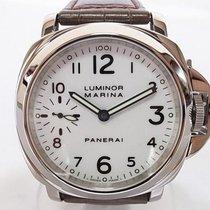 파네라이 루미노르 마리나 스틸 44mm 흰색 아라비아 숫자