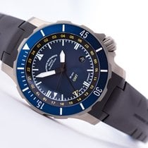 Mühle Glashütte Seebataillon GMT Titanium 45mm Blue No numerals United States of America, New Jersey, Princeton