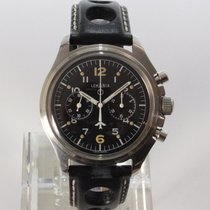 Lemania Chronograaf 40mm Handopwind 1975 tweedehands Zwart