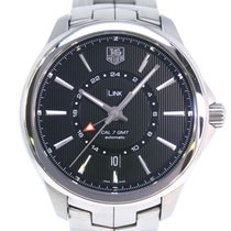 TAG Heuer Link Calibre 7 Steel 40.5mm Black