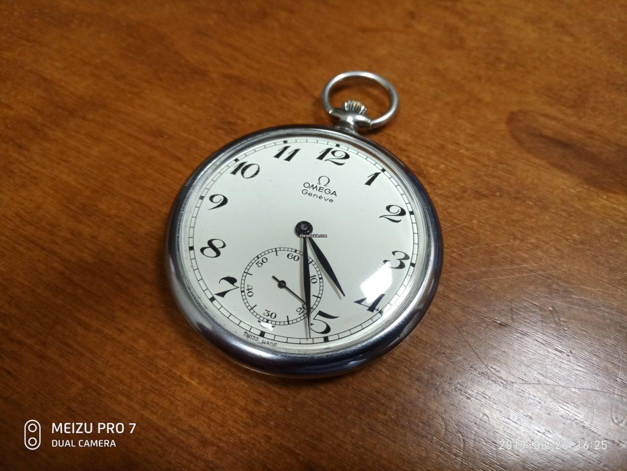 Vintage 46mm Swiss Moeris Open Face Pocket Watch Running Pocket Watches Antique