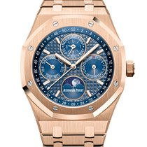 Audemars Piguet Royal Oak Perpetual Calendar Rose gold 41mm Blue No numerals