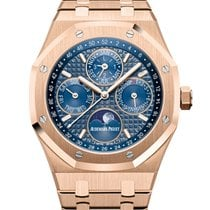 Audemars Piguet Royal Oak Perpetual Calendar Rose gold 41mm Blue No numerals United States of America, Iowa, Des Moines