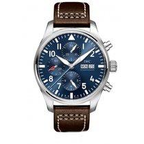 IWC Pilot Chronograph Acero Azul
